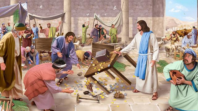 Storie della Bibbia Gesù scaccia i mercanti dal tempio