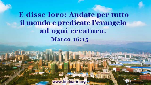 Versetti biblici Predicare il vangelo è la nostra missione