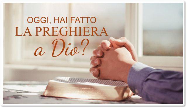 la preghiera a Dio